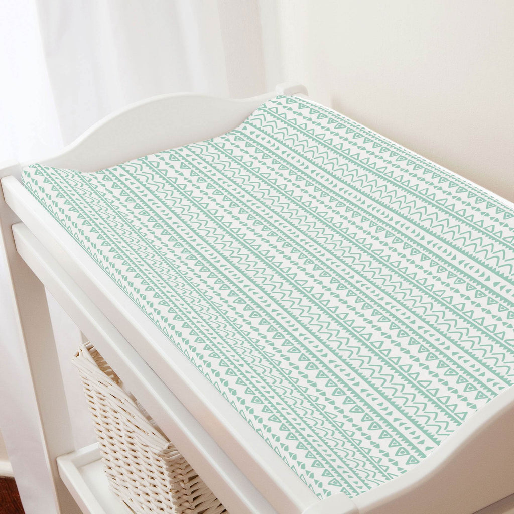 Product image for Mint Baby Aztec Changing Pad Cover