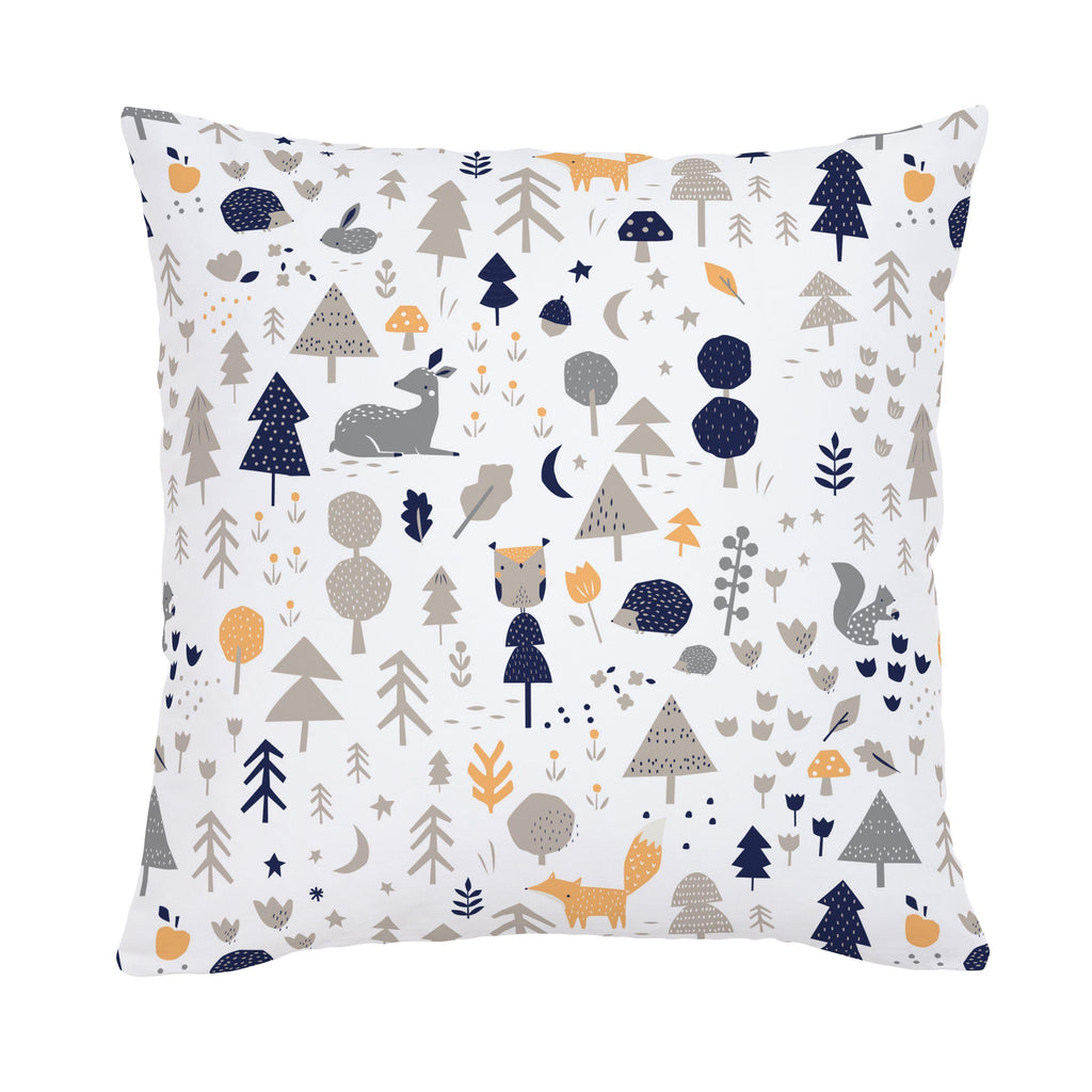 Product image for Taupe and Windsor Navy Baby Woodland Throw Pillow