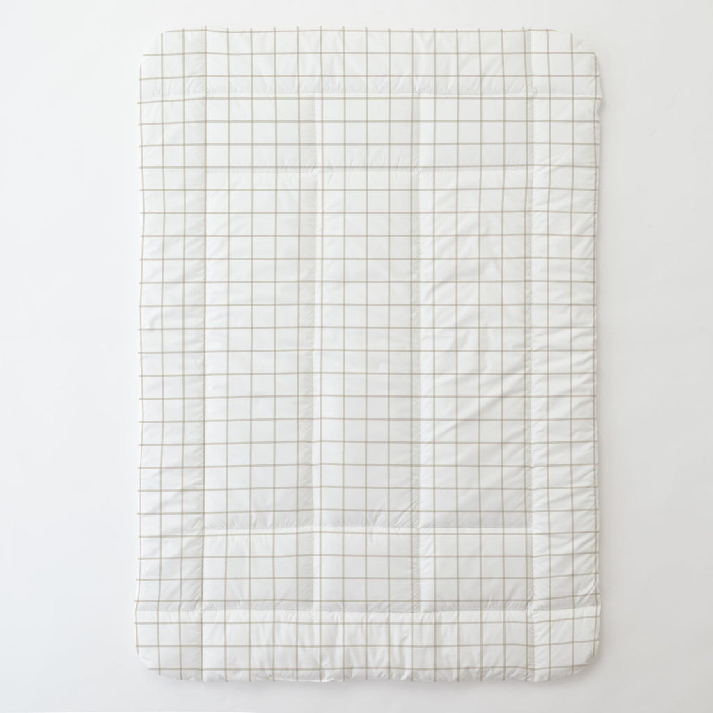 Product image for Taupe Windowpane Toddler Comforter