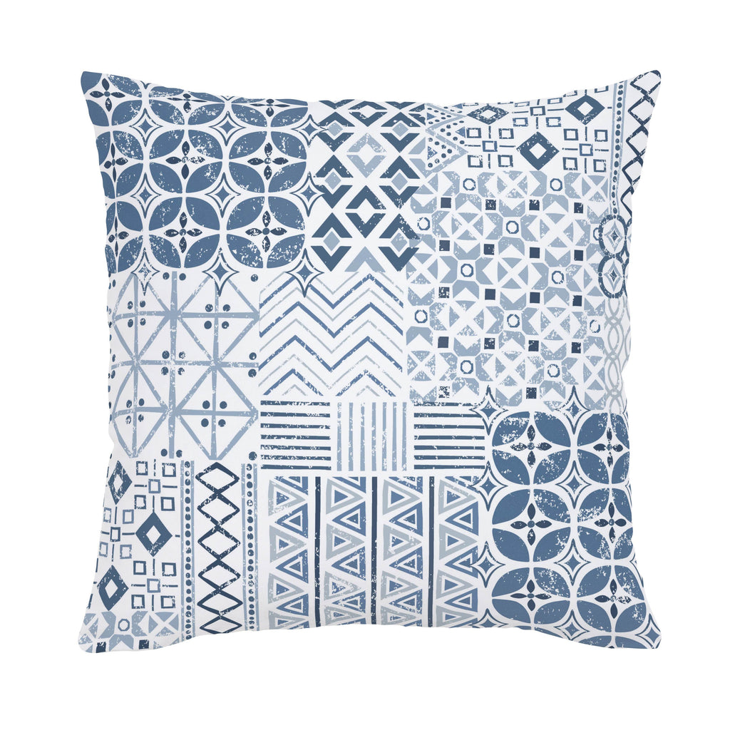 Product image for Denim Patchwork Throw Pillow
