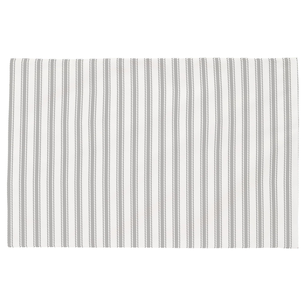 Product image for Cloud Gray Ticking Stripe Toddler Pillow Case