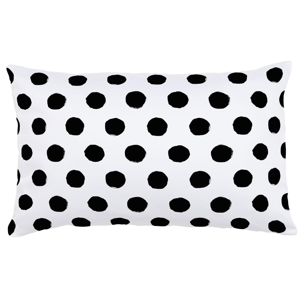 Product image for Onyx Brush Dots Lumbar Pillow