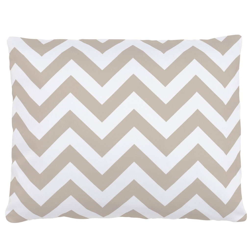 Product image for Taupe Zig Zag Accent Pillow
