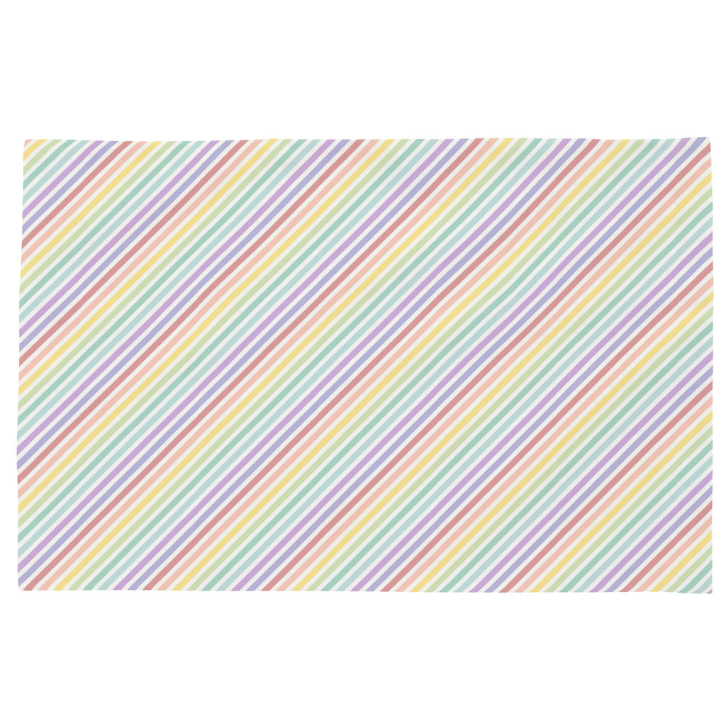 Product image for Pastel Rainbow Stripe Toddler Pillow Case