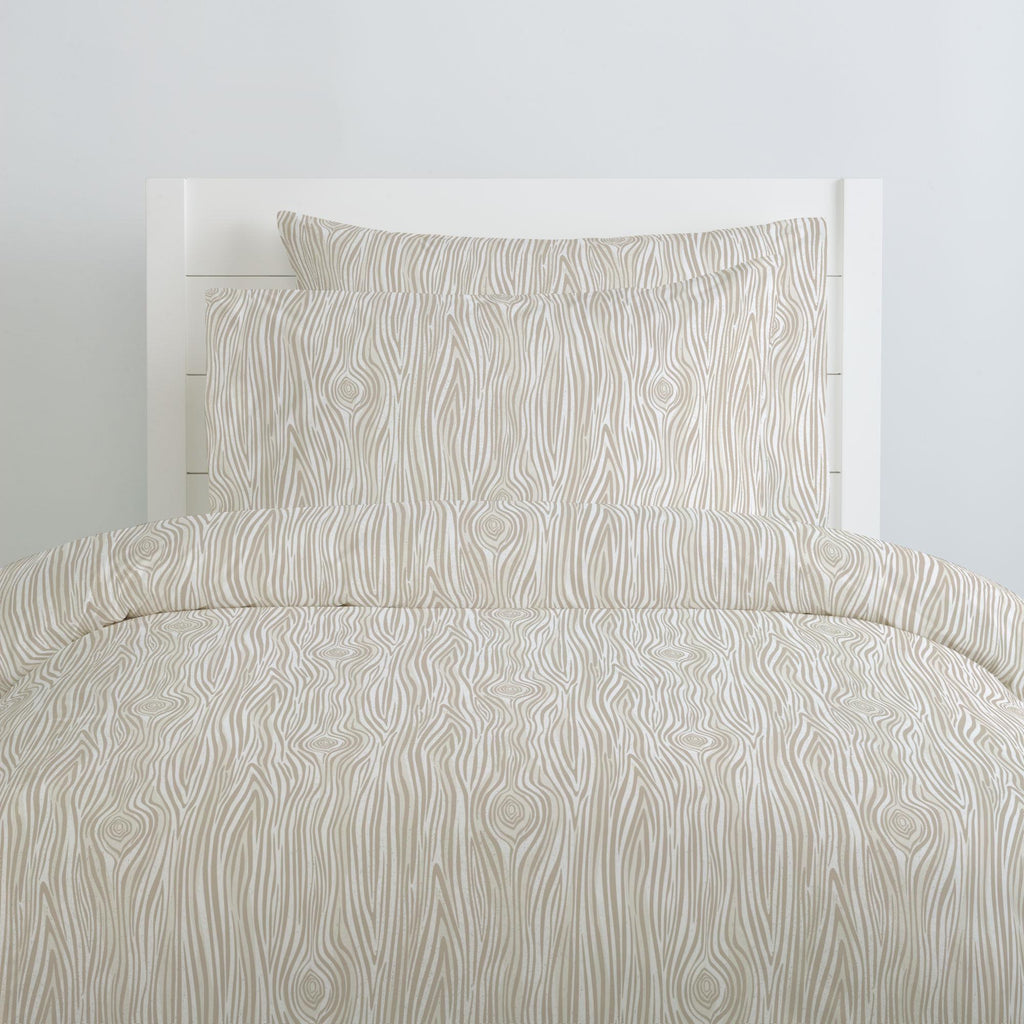 Product image for Taupe Woodgrain Duvet Cover