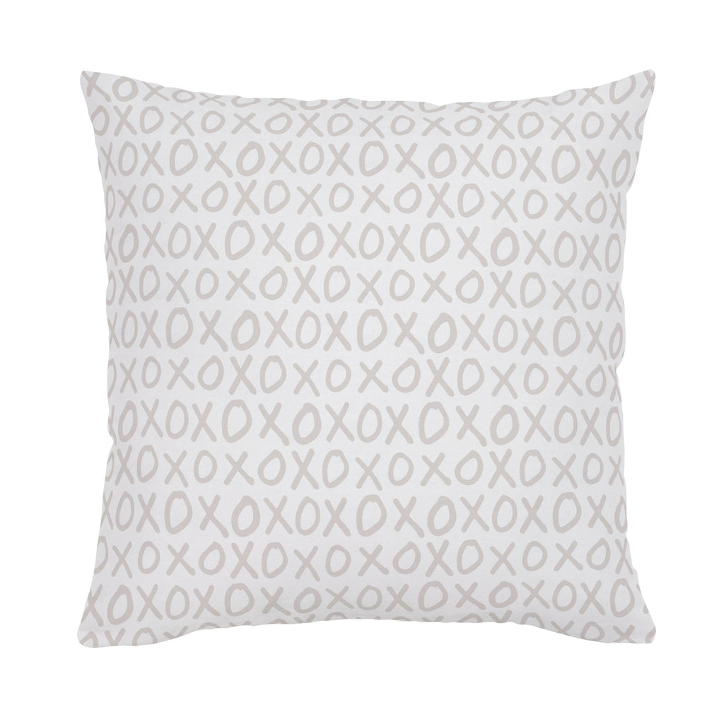 Product image for Taupe XO Throw Pillow