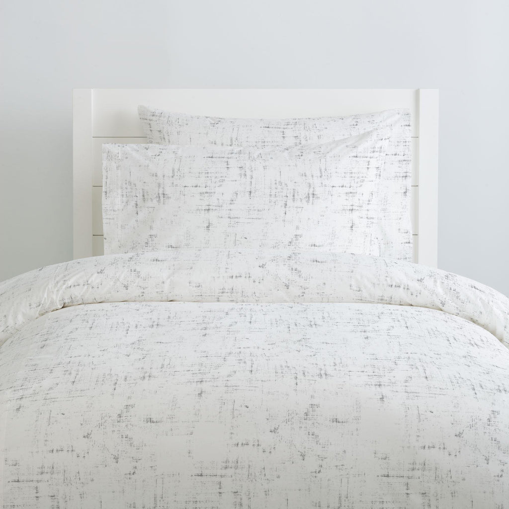 Product image for Cloud Gray Distressed Duvet Cover