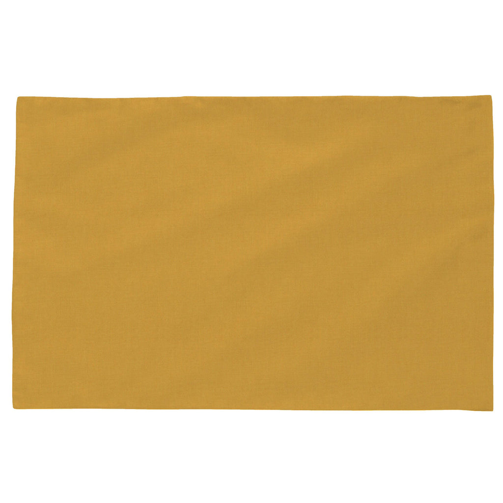 Product image for Solid Mustard Yellow Toddler Pillow Case