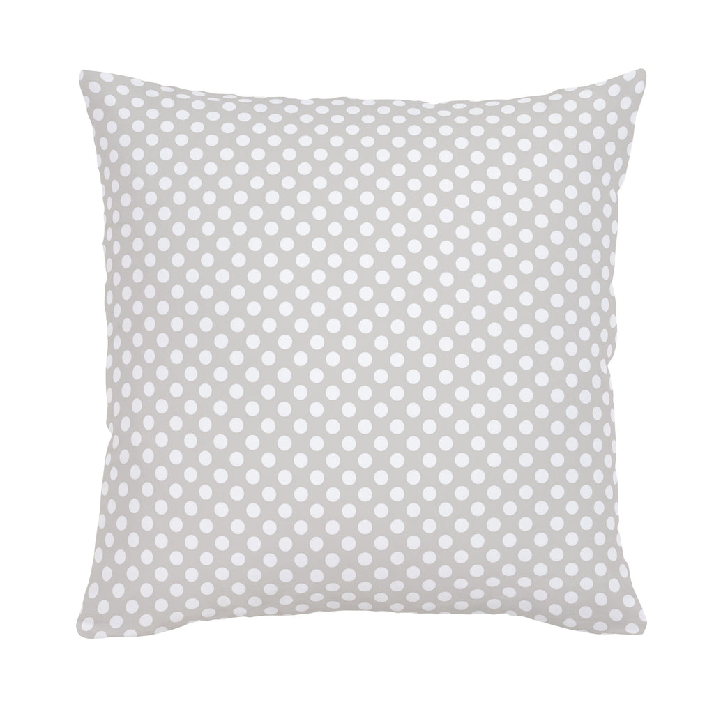 Product image for French Gray and White Dot Throw Pillow