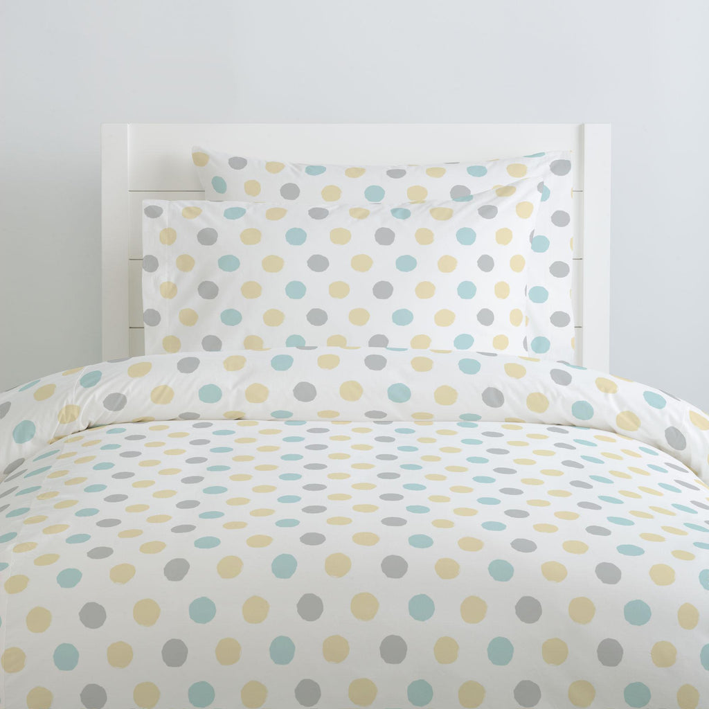 Product image for Mist and Gray Brush Dots Duvet Cover