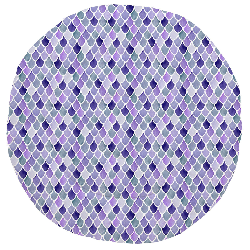 Product image for Lilac Watercolor Scales Baby Play Mat