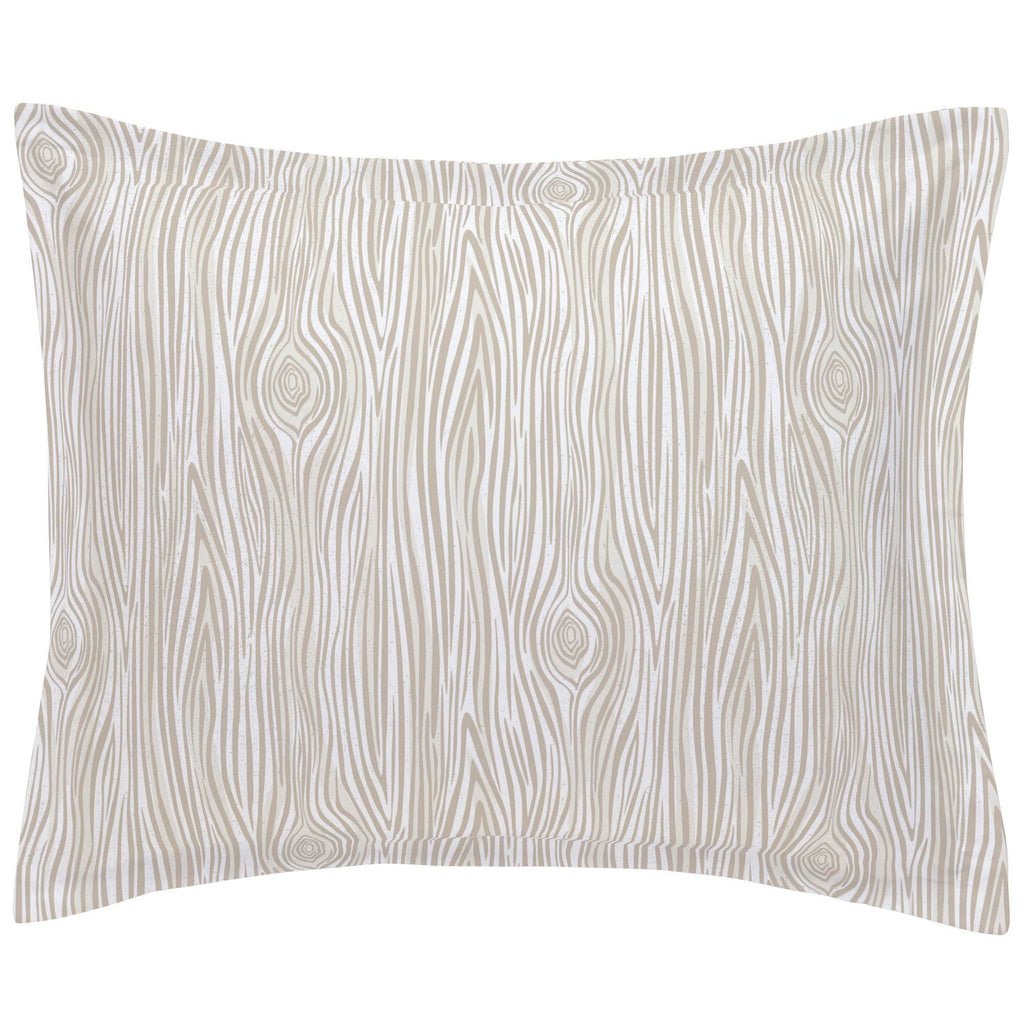 Product image for Taupe Woodgrain Pillow Sham