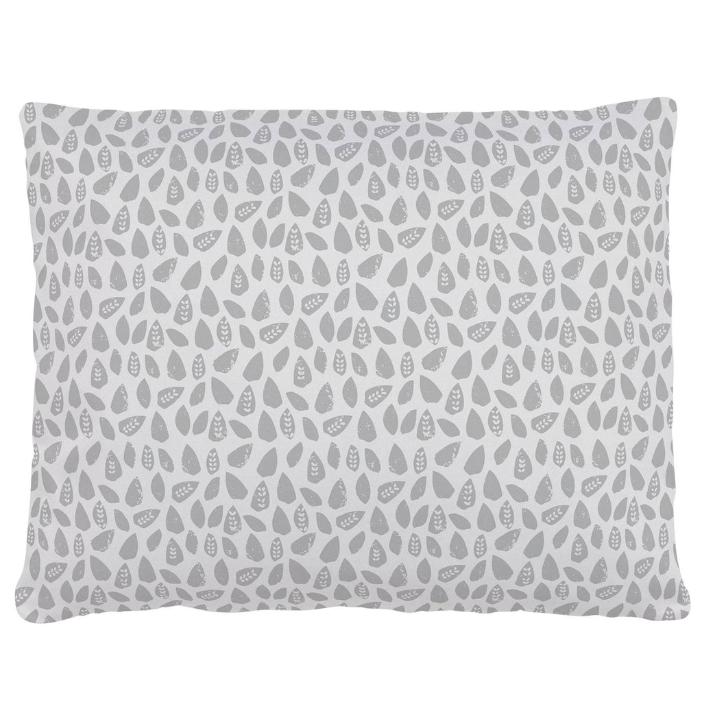 Product image for Gray Woodland Leaf Accent Pillow