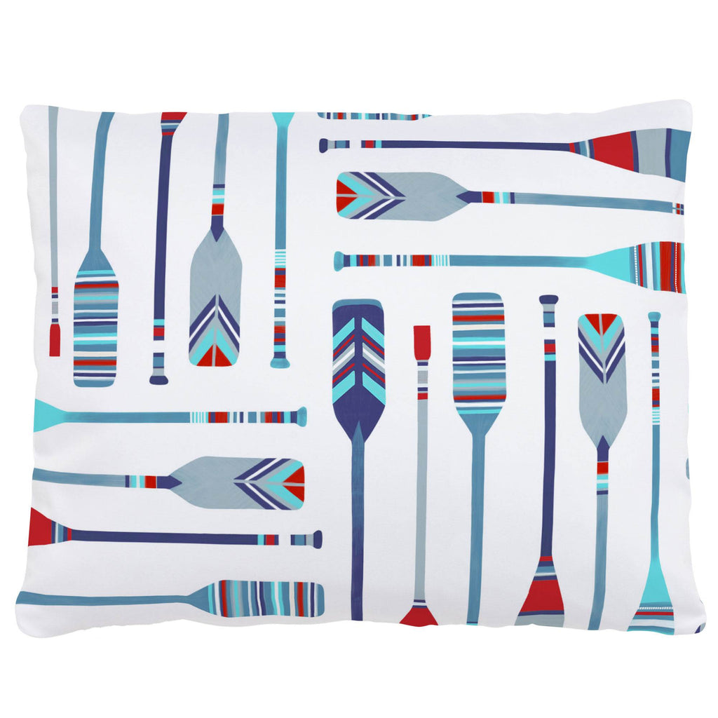 Product image for Red and Blue Oars Accent Pillow