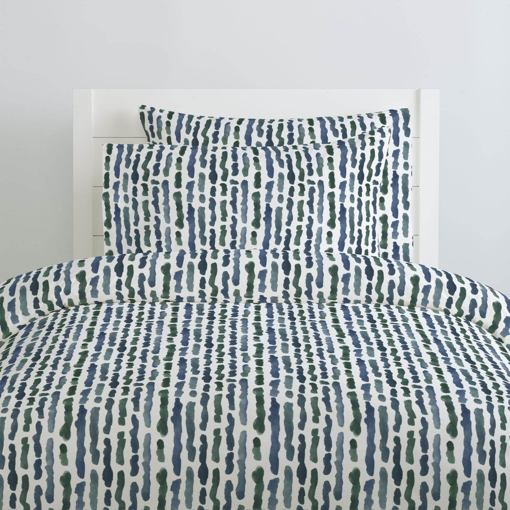 Product image for Sea Green Stripe Duvet Cover