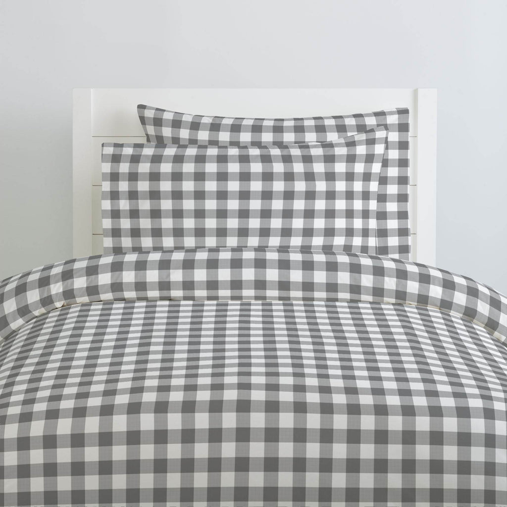 Product image for Gray Gingham Duvet Cover