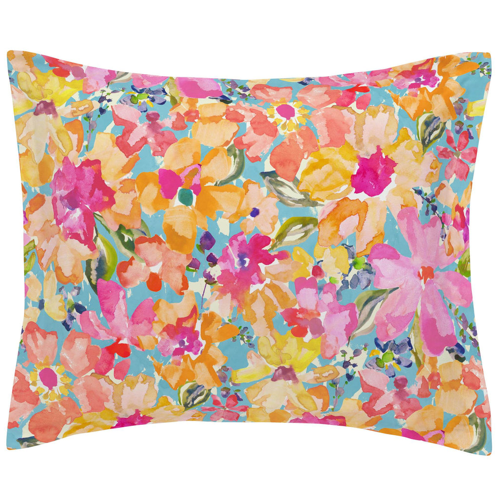 Product image for Coral Flower Bouquet Pillow Sham