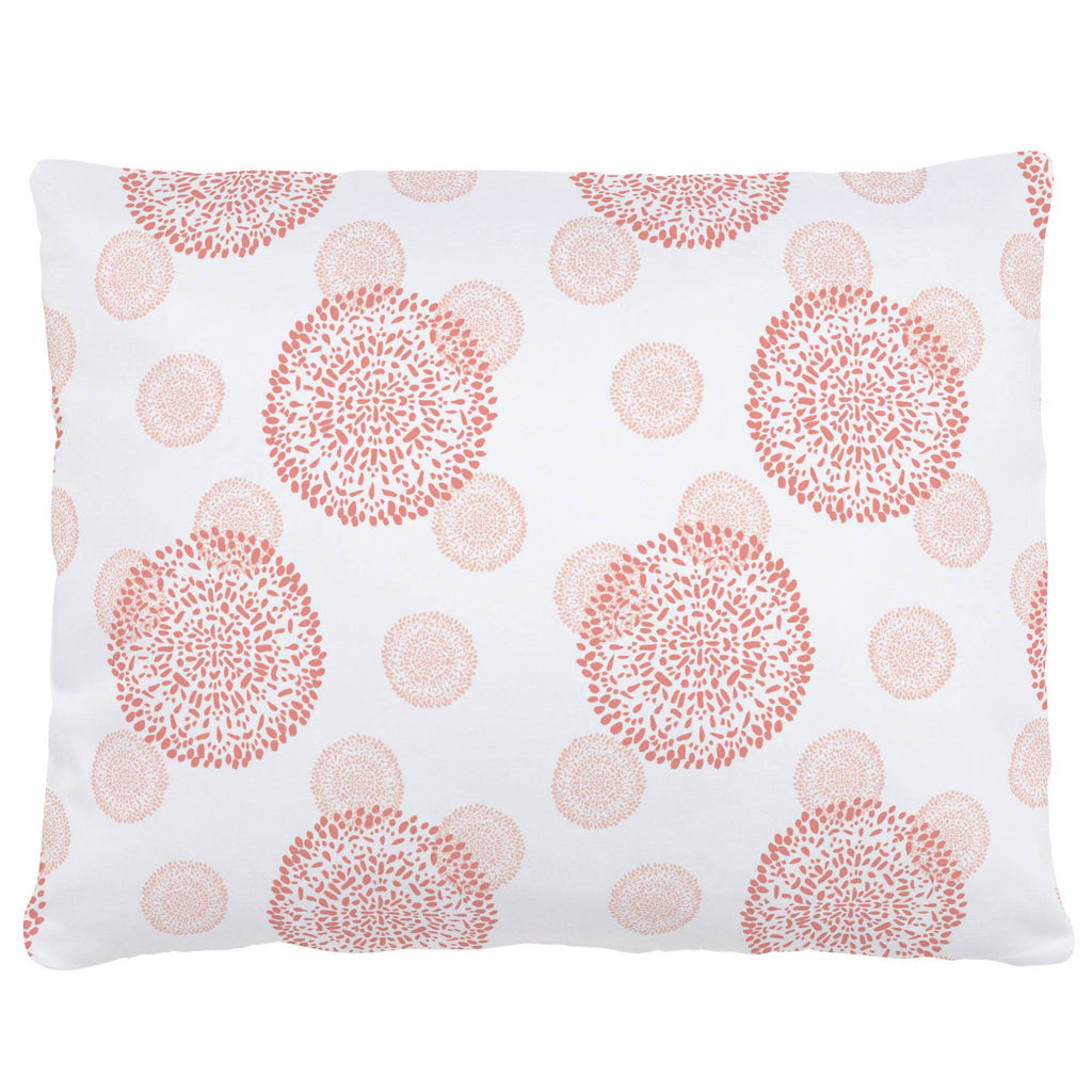 Product image for Light Coral and Peach Dandelion Accent Pillow