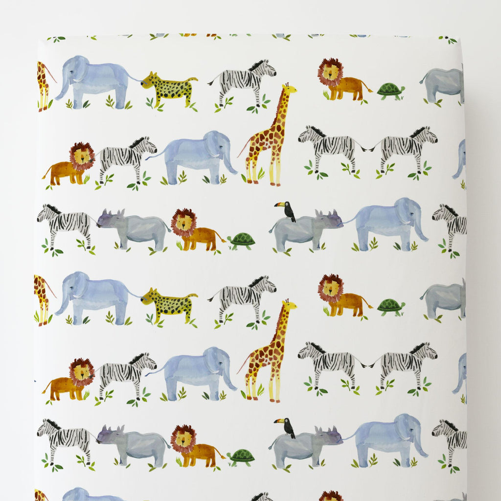 Product image for Painted Zoo Toddler Sheet Bottom Fitted