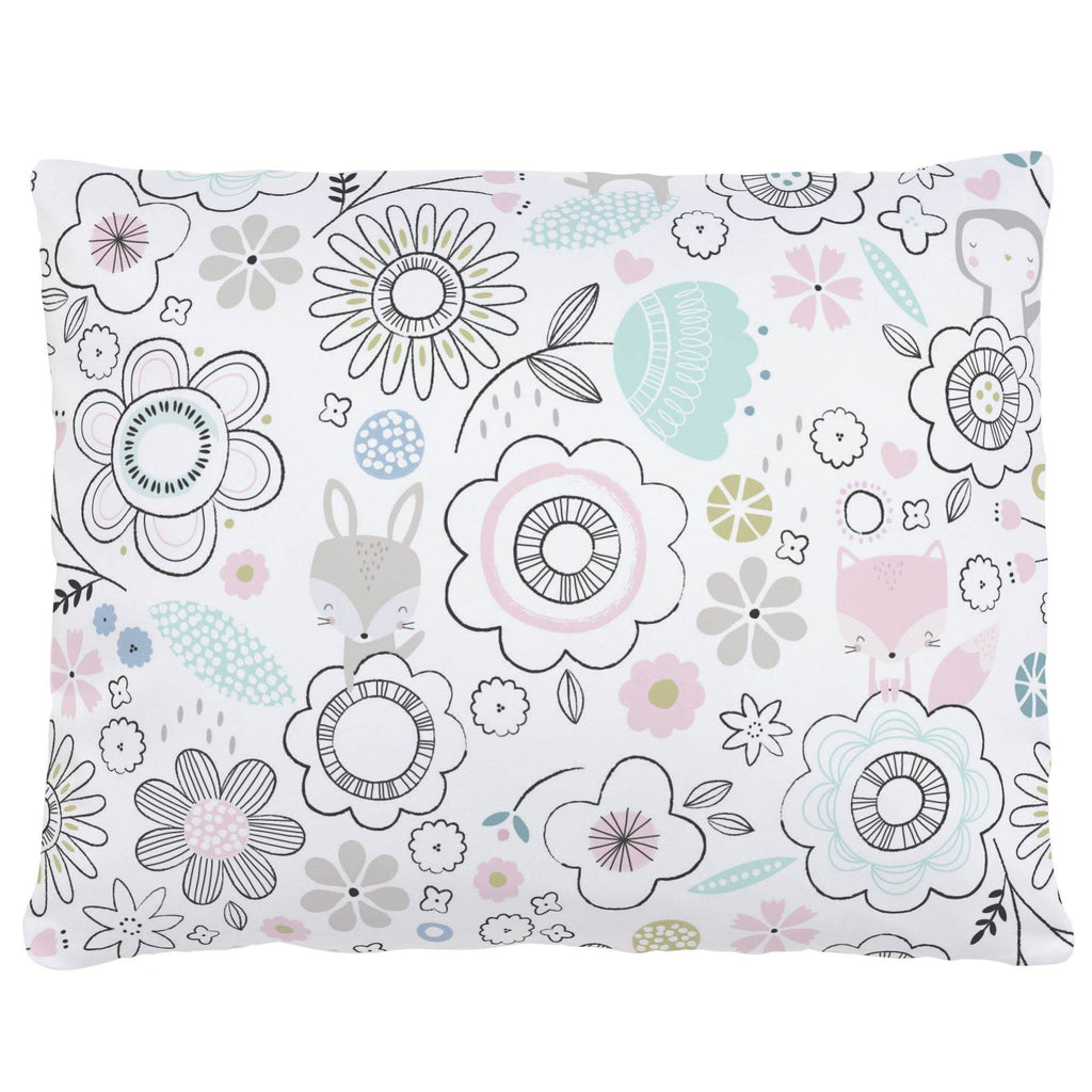 Product image for Pink Spring Doodles Accent Pillow