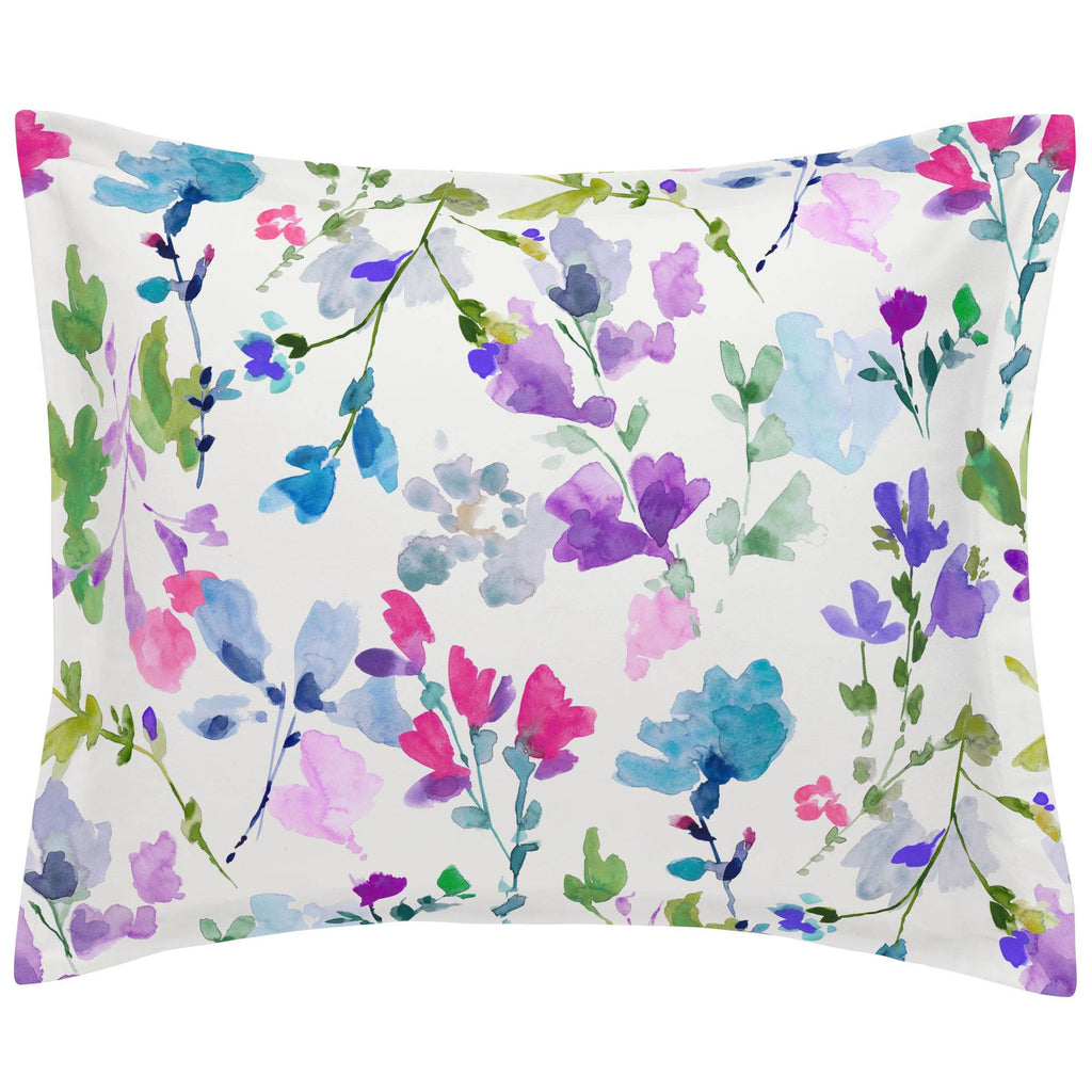 Product image for Bright Wildflower Pillow Sham