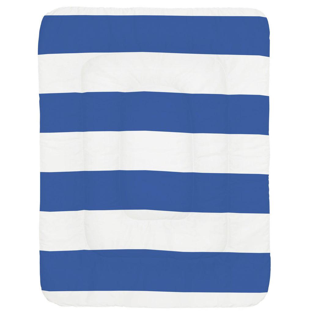 Product image for Ocean Blue Horizontal Stripe Crib Comforter