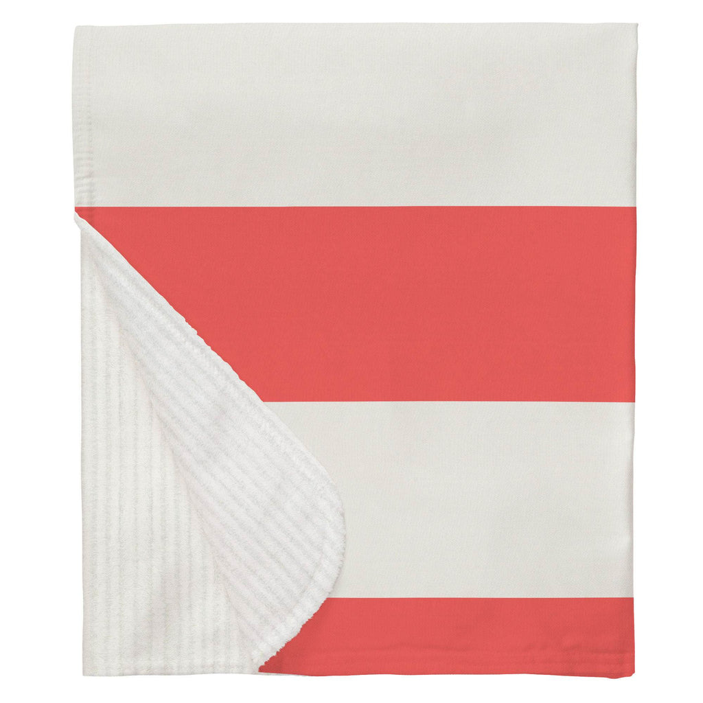 Product image for Coral Horizontal Stripe Baby Blanket