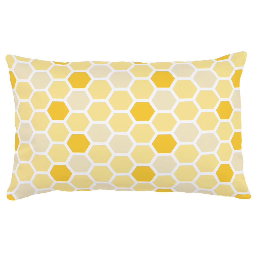 Product image for Yellow Honeycomb Lumbar Pillow