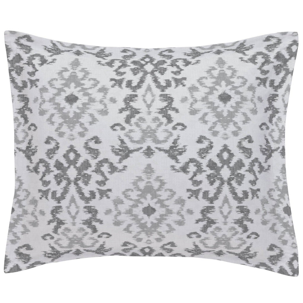 Product image for Gray Ikat Damask Pillow Sham