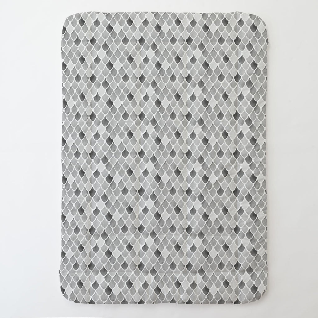Product image for Gray Watercolor Scales Toddler Comforter