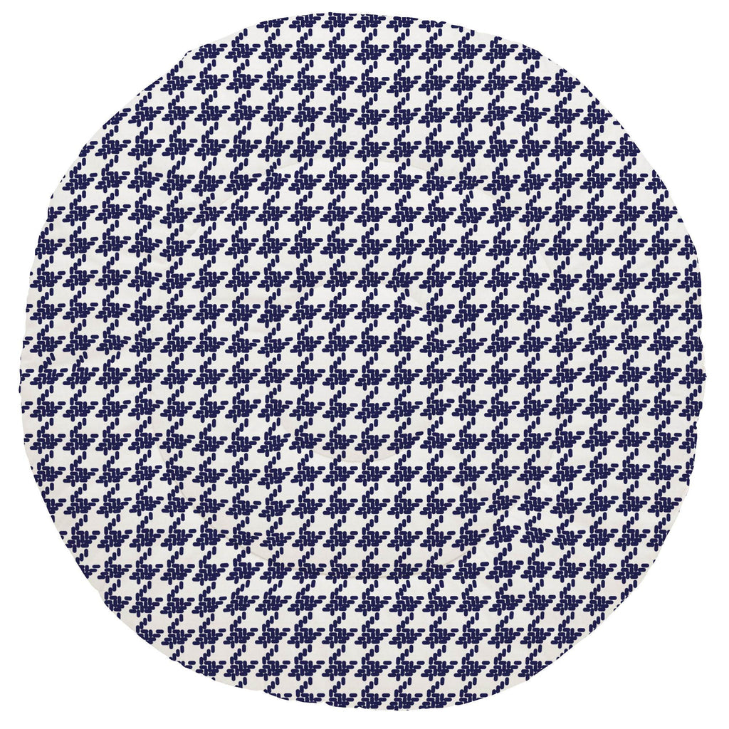 Product image for Windsor Navy Modern Houndstooth Baby Play Mat