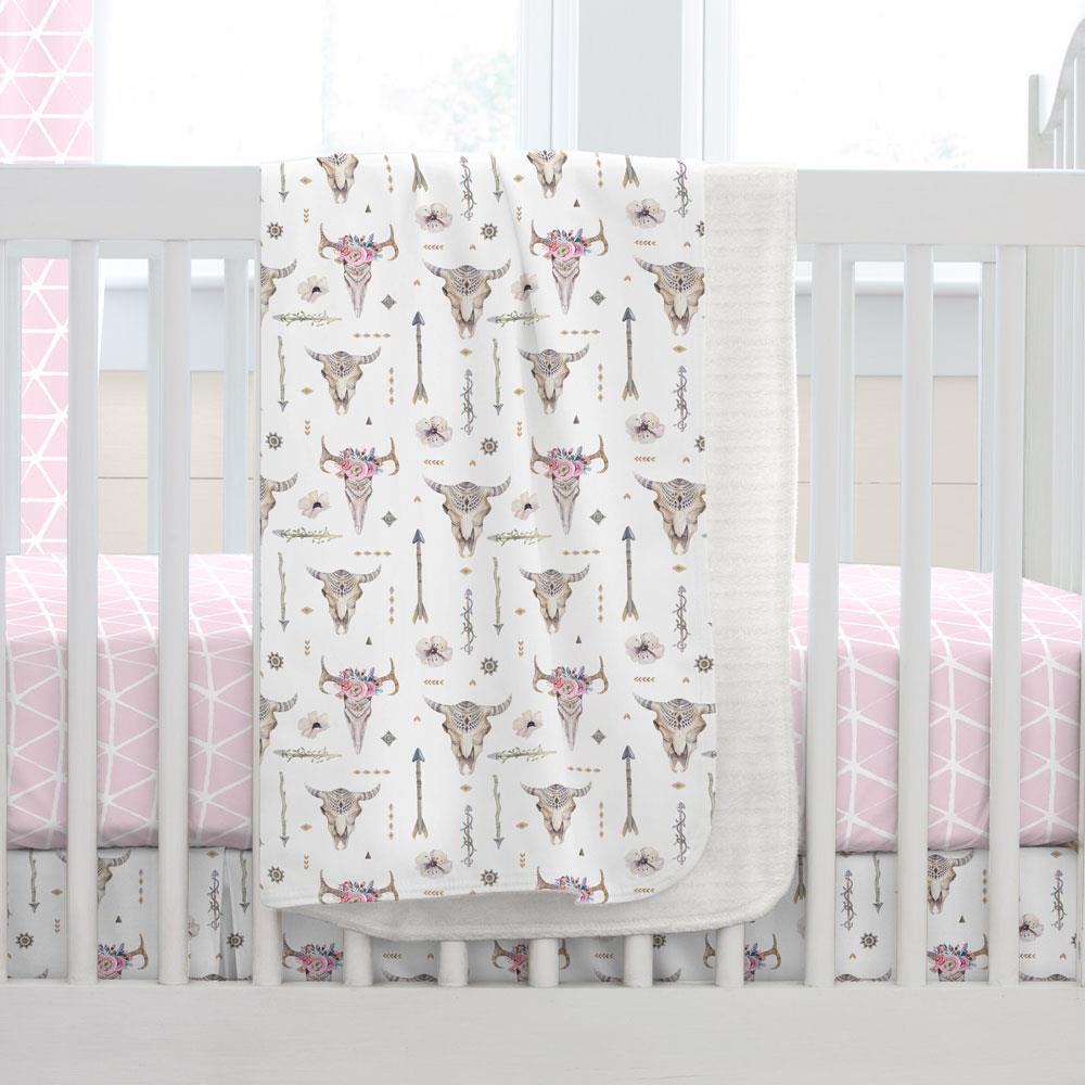 Product image for Pink Boho Baby Blanket