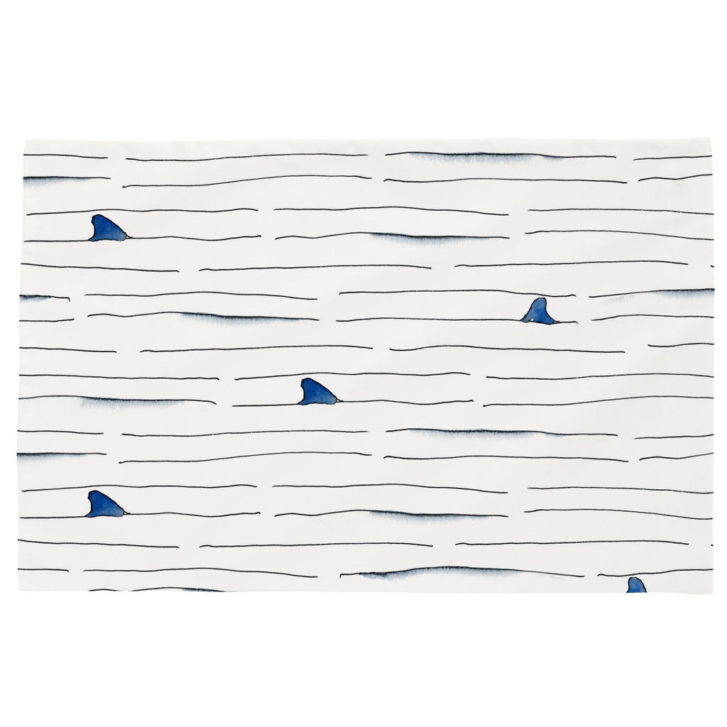 Product image for Shark Fin Stripe Toddler Pillow Case