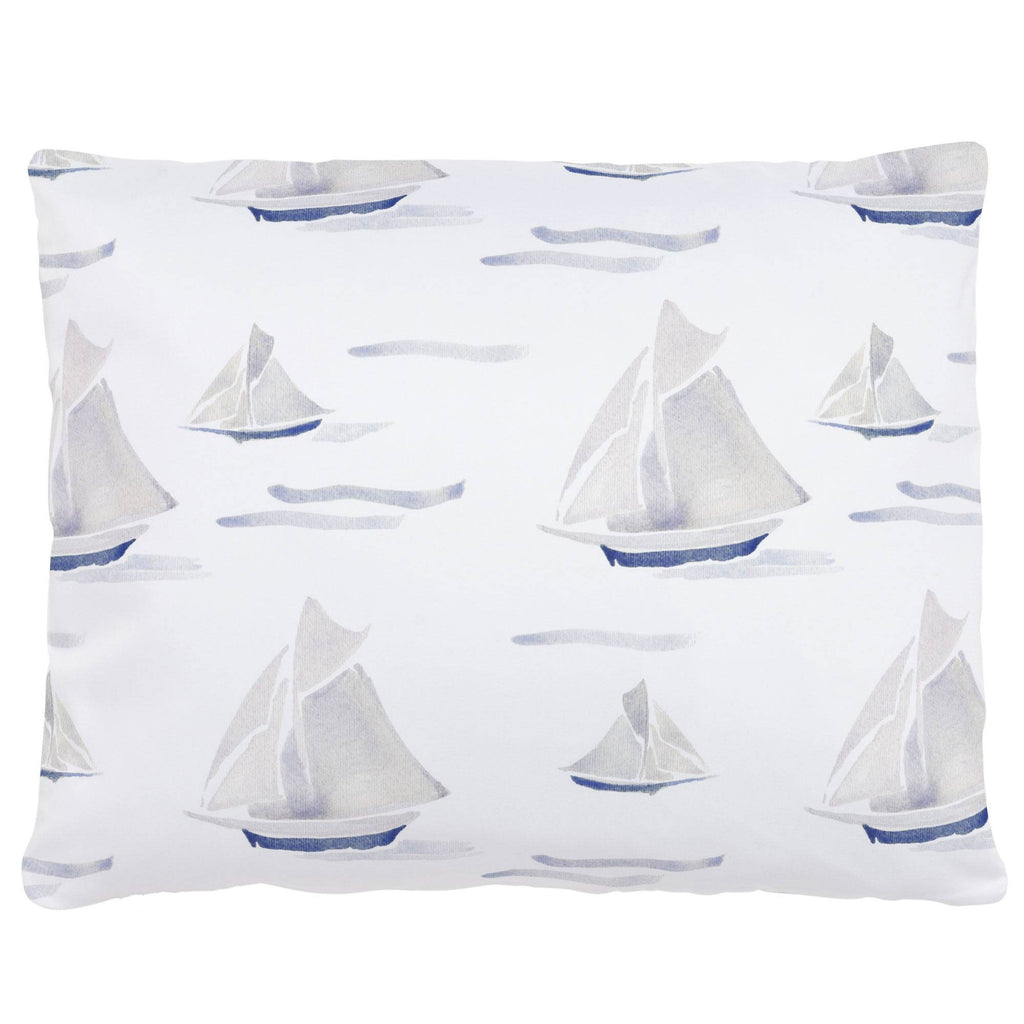 Product image for Watercolor Sailboats Accent Pillow
