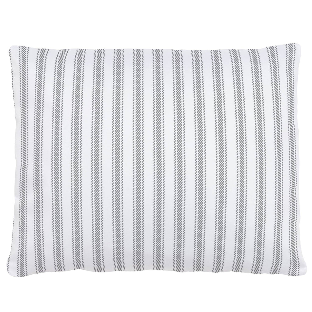 Product image for Cloud Gray Ticking Stripe Accent Pillow