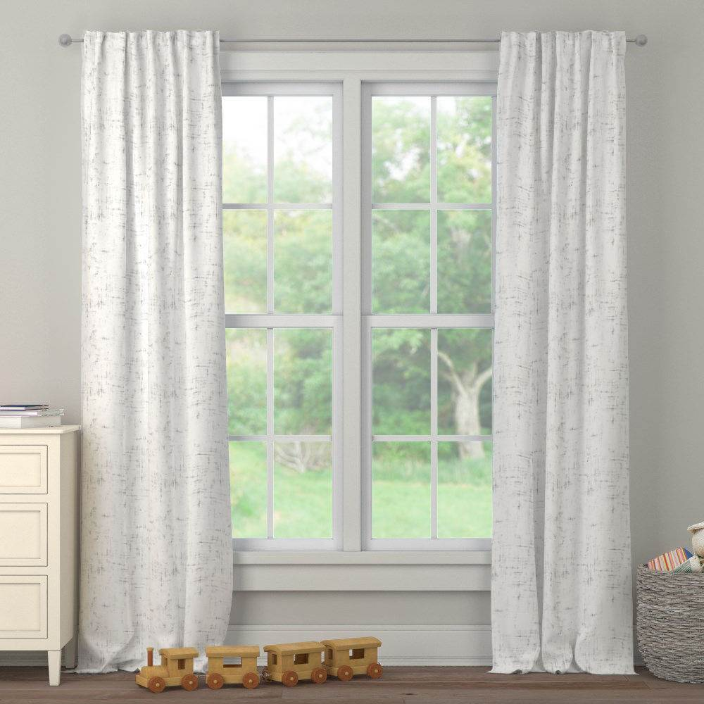 Product image for Cloud Gray Distressed Drape Panel