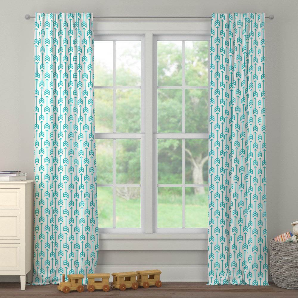 Product image for Teal Arrow Drape Panel