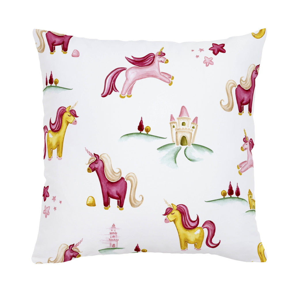 Product image for Painted Unicorns Throw Pillow