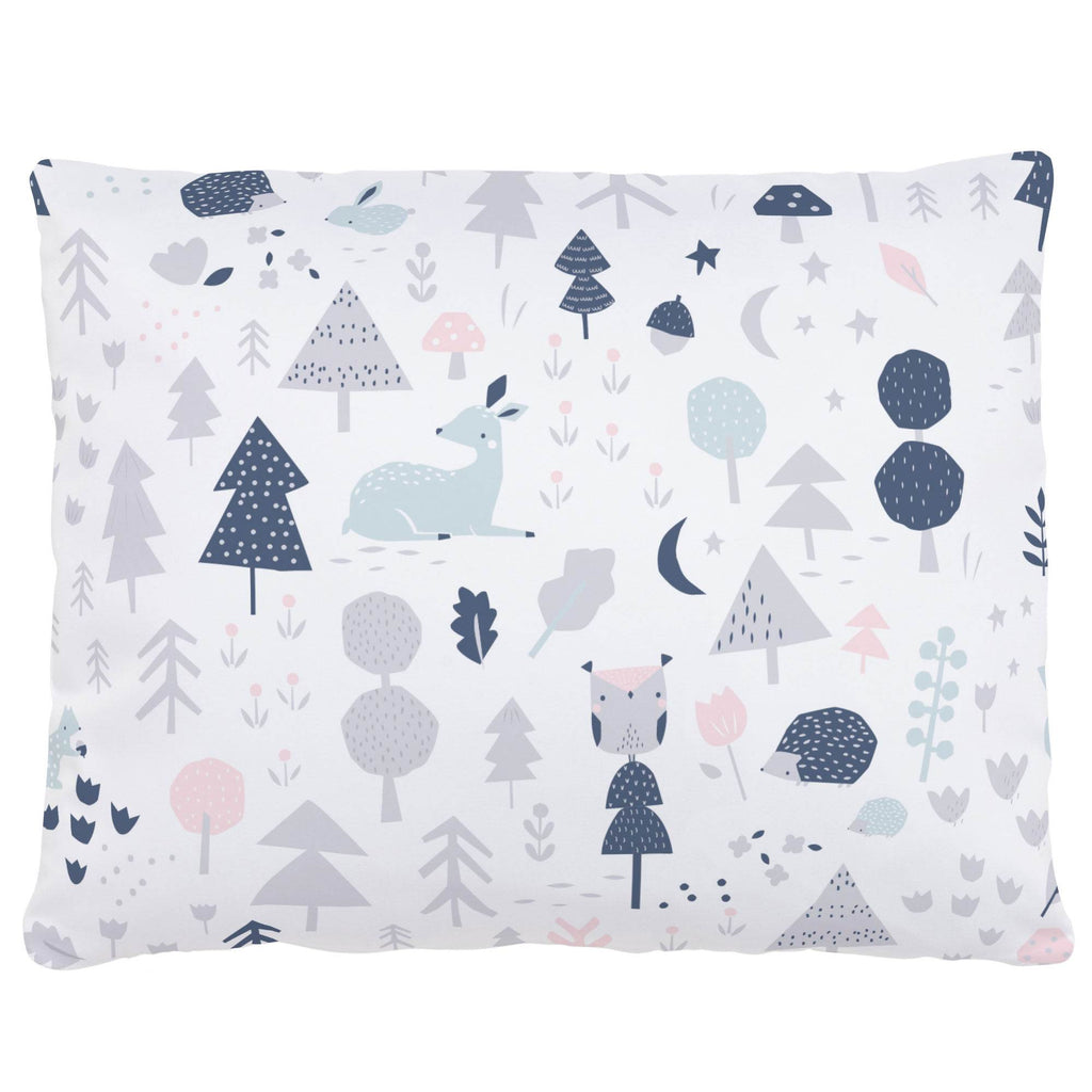 Product image for Gray and Pink Baby Woodland Accent Pillow