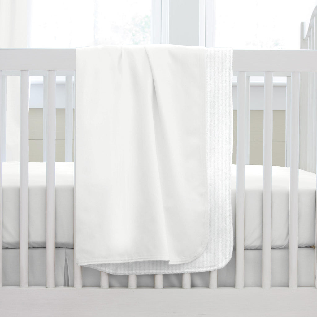 Product image for Solid Antique White Baby Blanket