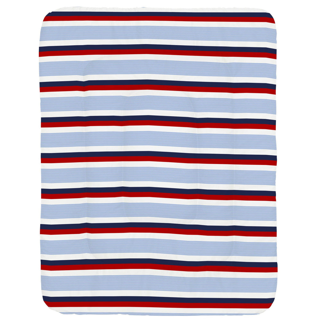 Product image for Red and Blue Stripe Crib Comforter