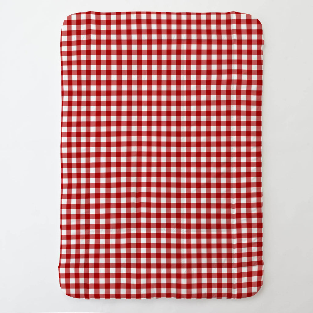 Product image for Red Gingham Toddler Comforter