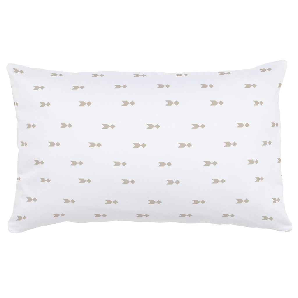 Product image for Taupe Flying Diamonds Lumbar Pillow