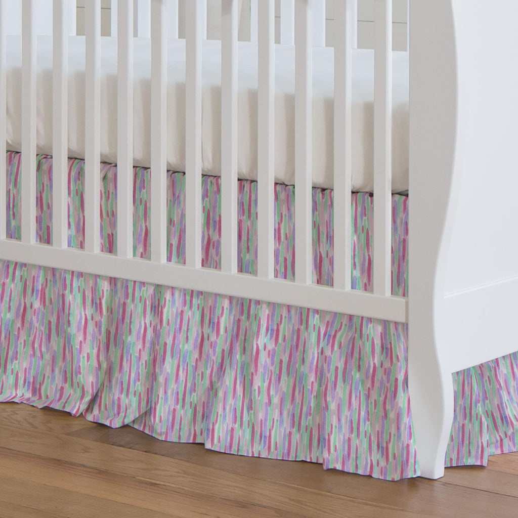 Product image for Unicorn Spots Crib Skirt Gathered