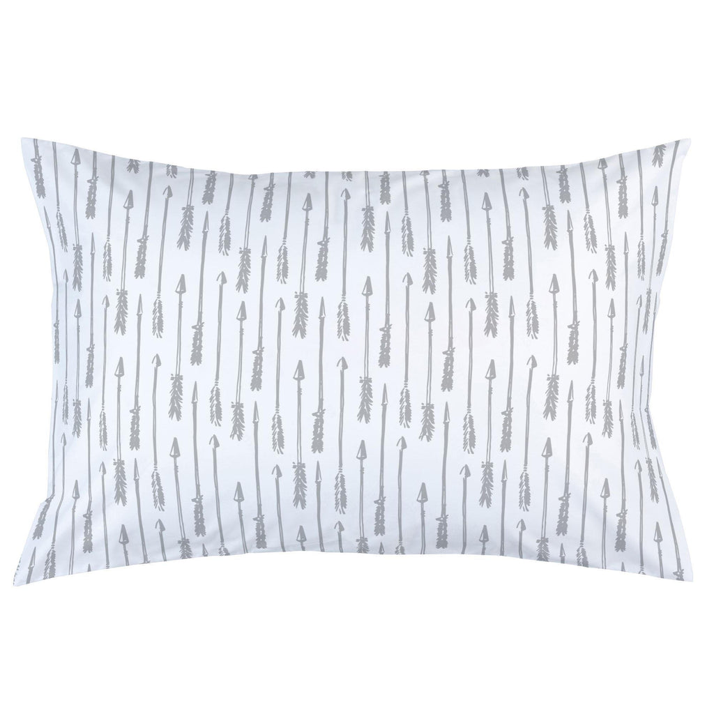 Product image for Silver Gray Hand Drawn Arrow Pillow Case