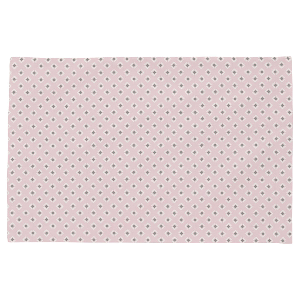 Product image for Pink and Gray Diamond Toddler Pillow Case