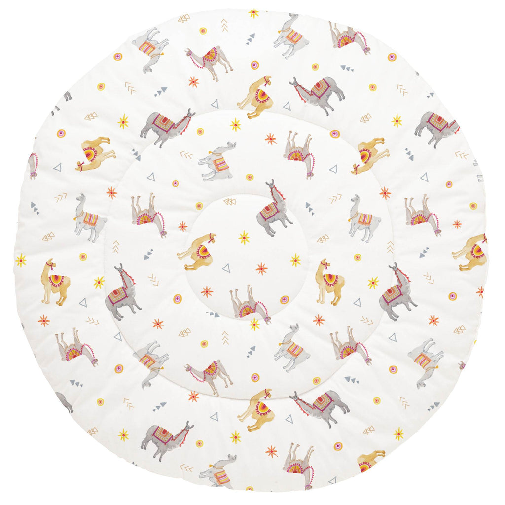 Product image for Festive Llamas Baby Play Mat