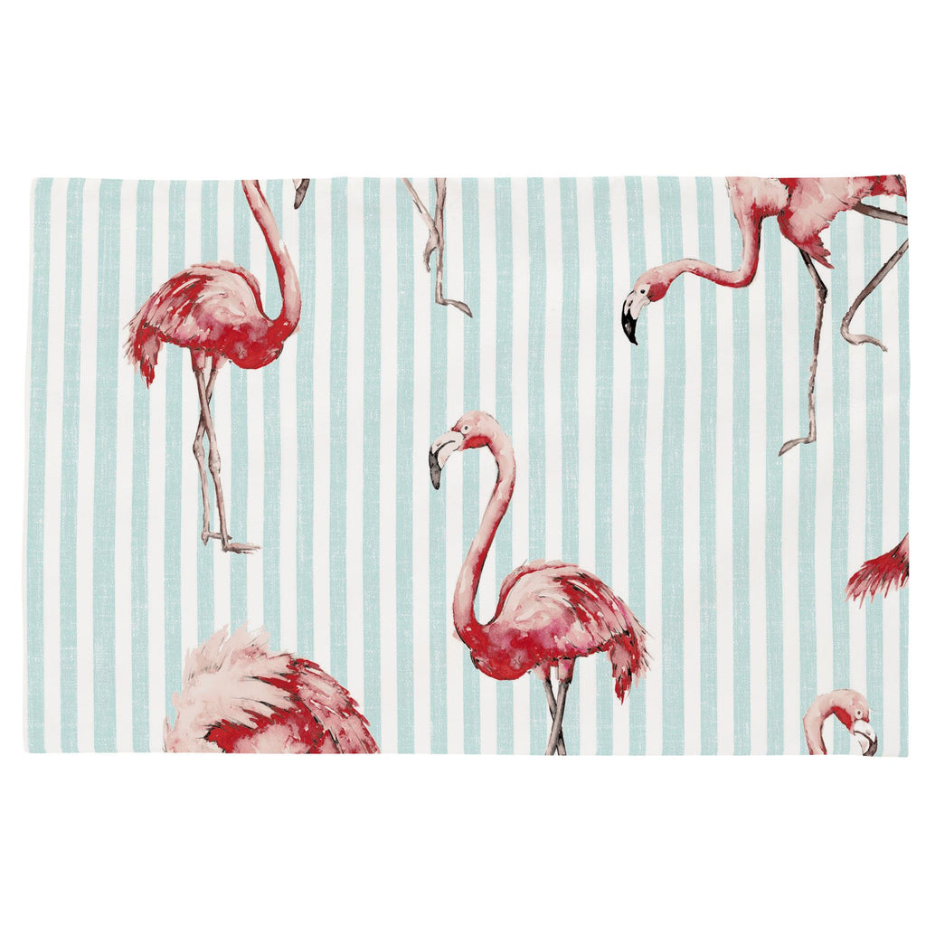 Product image for Flamingo Stripe Toddler Pillow Case