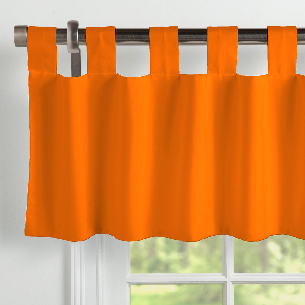 Product image for Solid Orange Window Valance Tab-Top