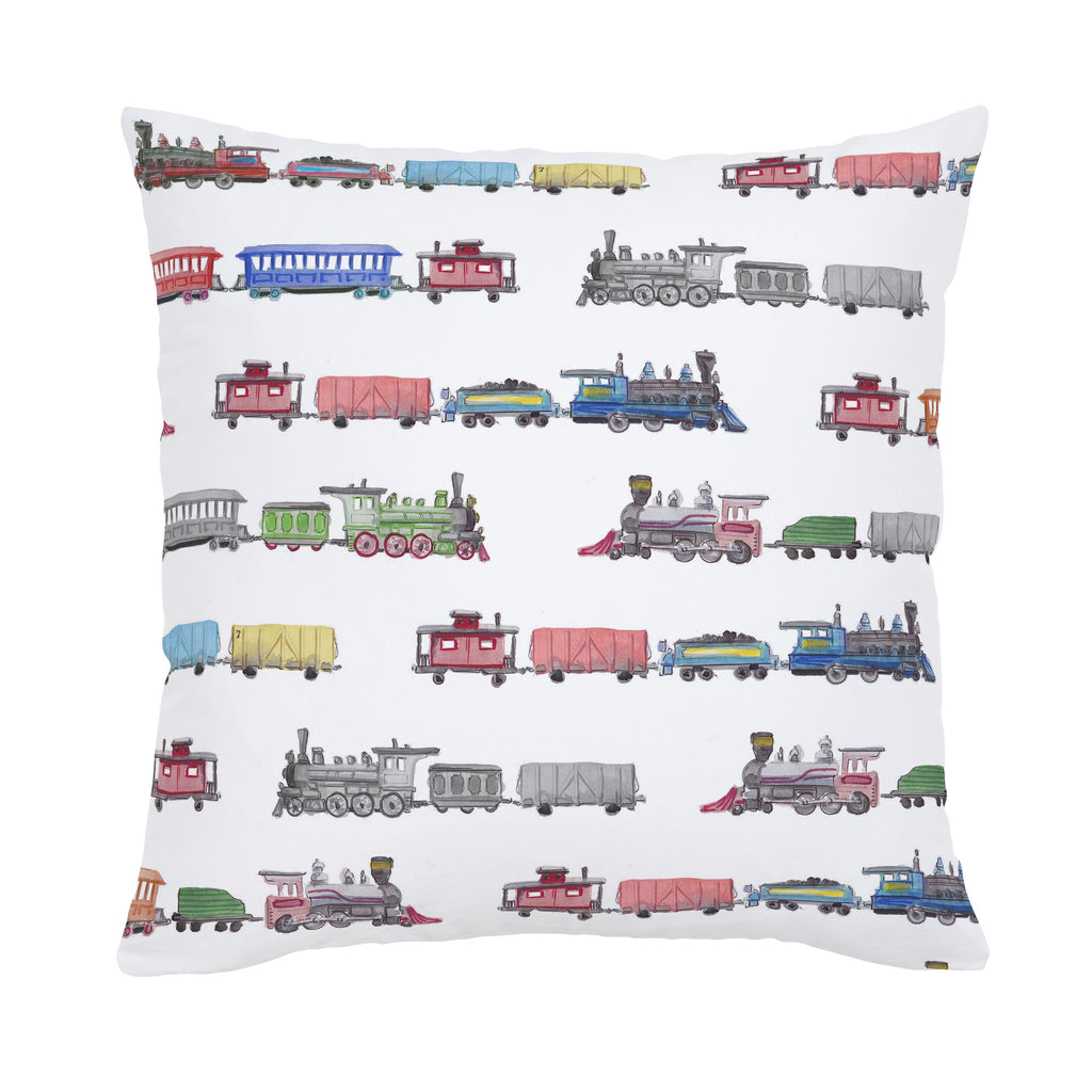 Product image for Watercolor Trains Throw Pillow